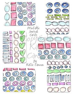 Watercolor Flowers Journal Cards Project 365, Project Life, Snap Life Printable 3x4 journal Filler Cards on Etsy, $1.50