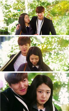 """""""If you turn away from me I will hug you, if you argue with me I will kiss you."""" Lee Min Ho and Park Shin Hye ♡ #Kdrama - """"HEIRS"""" / """"THE INHERITORS"""""""