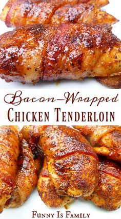 This Bacon-Wrapped Chicken Tenders recipe is as moist and delicious as it looks! In the oven or on the grill, this easy chicken recipe is perfect for dinner or a party appetizer! These Bacon-Wrapped Chicken Tenders are as moist and delicious as they look! Traeger Recipes, Grilling Recipes, Smoker Grill Recipes, Barbecue Recipes, Frango Bacon, Bacon Wrapped Chicken Tenders, Bacon Rapped Chicken, Chicken Bacon Wrap, Baked Chicken Tenderloins