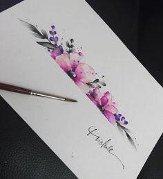 • f L o W e R s • #drawing #mydrawing #watercolor #watercolorart #watercolortattoo #flowers #flowertattoo #womantattoo #arttattoos #tattooartist
