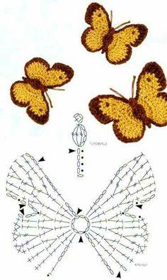 Crochet Shrugs - Easy to crochet baby cardigan / Crochet baby sweater (Video . - New Ideas Crochet Shrugs - Easy to crochet baby cardigan / Crochet baby sweater (Video . Crochet Shrugs - Easy to crochet baby cardigan / Crochet baby sweater (Video - Crochet Motifs, Crochet Diagram, Crochet Stitches, Crochet Butterfly Pattern, Crochet Flowers, Butterfly Template, Cute Crochet, Crochet Crafts, Crochet Projects