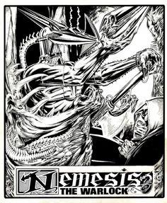 Kevin O'Neill - Nemesis Pinup Comic Art