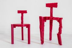 3D printed chairs made from noise by estudio guto requena - designboom   architecture & design magazine