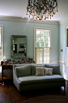 My all-time favorite Benjamin Moore paint color-palladian blue HC-144!