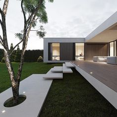 hunter House Design Visualization monoarchitects Location via my good friend Modern Architecture House, Modern House Design, Interior Architecture, Contemporary Design, Modern Architects, Dream House Exterior, Mansions Homes, Facade House, Home Fashion