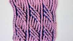 Textured cable two-color brioche stitch pattern + free embedded chart