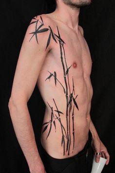 Gene Coffey tattoo bamboo