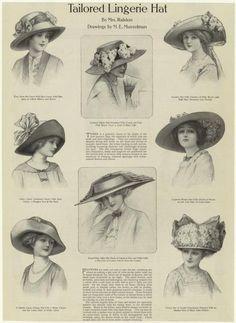 sombreros 1910