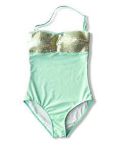 6352106233e51 Mint one piece swimsuit with sequins. RAD SWIM In like new condition. Comes  with matching swim skirt! Lined but no bra pad inserts. Rad Swim Swim One  Pieces