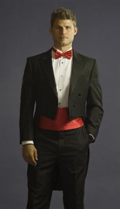 Tuxedo with Tails Center Vented and Flat Front Pants Black $199.00 AT vintagedancer.com