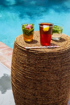 As pool-party season comes to a close, make three classic summertime cocktails even more refreshing with infused ice cubes paired perfectly for each one.