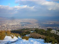 The wonderful view from the mountains of Vodno