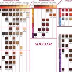 color chart matrix: Socolor color chart online matrix color pinterest matrix color