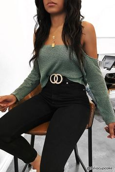 Open-Shoulder Crop Top | Forever21