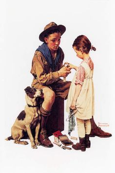 Norman rockwell norman rockwell norman rockwell paintings, n Norman Rockwell Prints, Norman Rockwell Paintings, Peintures Norman Rockwell, Boy Scouts, American Artists, Belle Photo, Vintage Art, Canvas Prints, Canvas Art