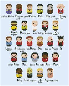 Star Trek alphabet sampler