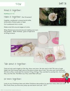 Sample Page of Truth in the Tinsel ebook ~ Devotion and star ornament pattern