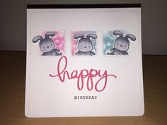 Birthday Card using Honey Bunny stamp set and dies from Mama Elephant