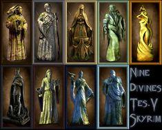 9 divines skyrim The Elder Scrolls, Elder Scrolls V Skyrim, Fantasy City, Fantasy World, Final Fantasy, Dragon Age, Tes Skyrim, Halo Reach, Princess Mononoke