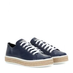 Miu Miu - Patent leather espadrille-style sneakers - mytheresa.com