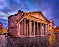 Pantheon and Piazza della Rotonda in the Morning Rome Italy [OC] [2048x1638]