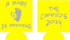 baby is brewing shower baby feet favors Can Coolers