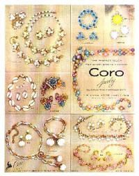 1955 Coro Jewelry Ad TThe Perfect Touch for Every Spring Fashion Jewellery Advertising, Jewelry Ads, Jewelry Stand, Fashion Jewelry, Jewellery Box, Jewelery, Jewelry Quotes, Oxidised Jewellery, Jewellery Shops