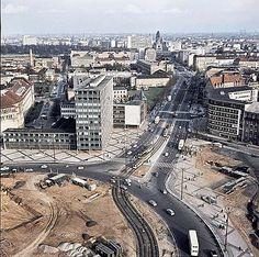 Ernst-Reuter-Platz mit Hardenbergstrasse 1960