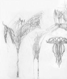Lord of the rings - Alan lee's sketchbook | #elven #Lothlorien