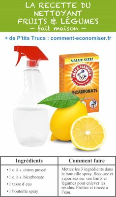 Baking Soda 300544975133837061 - Homemade Fruit And Veggie Wash — 22 Everyday Products You Can Easily Make From Home (for less!) These are all so much healthier, too! Source by nadeang Homemade Cleaning Products, Cleaning Recipes, Natural Cleaning Products, Cleaning Hacks, Cleaning Checklist, Household Products, Hacks Diy, Household Tips, Fruit And Vegetable Wash