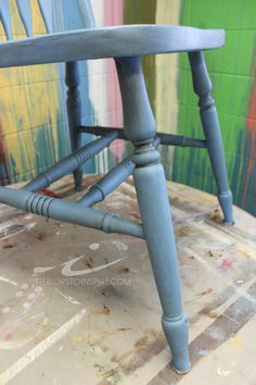 Greek Blue Chalk Paint™ by Annie Sloan with Clear and Dark Soft Wax
