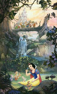 Snow white and the seven dwarfs disney art, walt disney, disney images, disney Disney Pixar, Disney Cartoons, Disney Movies, Disney Animation, Disney Princess Snow White, Snow White Disney, Snow White Art, Disney Images, Disney Pictures