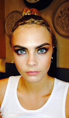 Cara Delevingne's glamorous, rocker-chic vibe at the Kate Moss for Topshop event