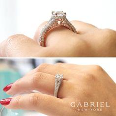 Unique details for that one of a kind. #GabrielNY #GabrielandCo #NewYorkCity #EngagementRing #Bridal #NewYork #NYC #loveYou #Tulips #BrideToBe #bridetoBride #Diamonds #Love #Ring #TrueLove #musthave #DreamWedding #WeddingInspiration #Glamour #heart #love #anniversary #design #jewelry #whitegold #diamond #ringgoals Style:  ER13826R4T44JJ