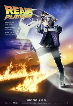 From filmmaker Steven Spielberg comes the science fiction action adventure Ready Player One, based on Ernest Cline's bestseller of the same name. Classic Movie Posters, Movie Poster Art, Film Posters, Retro Posters, Classic Movies, Dc Movies, Iconic Movies, Great Movies, Science Fiction