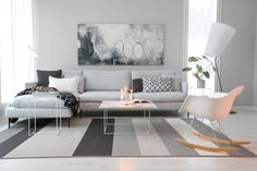 Modern and cozy living room.