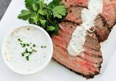Horseradish cream sauce is a great complement to prime rib, roast beef, and even steak cuts like filet mignon. It is also great for roast beef sandwiches. Prime Rib Dinner, Prime Rib Roast, Pork Roast, Roast Gravy, Sirloin Roast, Roast Chicken, Pork Loin, Mayonnaise, Horseradish Cream Sauce