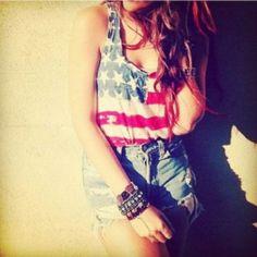 I want an american flag shirt!