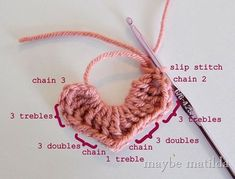 Step by Step Crochet Hearts from Maybe Matilda