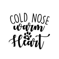 Silhouette Design Store: cold nose warm heart