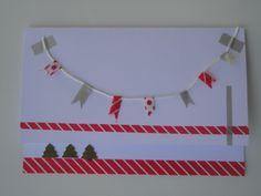 Mi primera tarjeta de navidad hecha con Washi tape  www.washitape.com.mx
