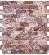 MS International SANGRIA ONYX SPLIT FACE Mosaic Hatch Polished Tile 12x12 $ 20.76 / Tile