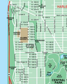 Upper East Side New York City Streets Map Street