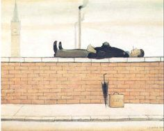 LS Lowry, Man Lying on a Wall