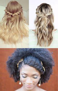 Penteados para festas: tranças