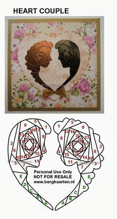 Heart Couple - Iris Folding pattern