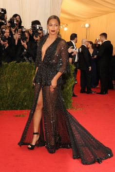 She woke up like this. Beyoncé is fierce on the red carpet at the Costume Institute of the Metropolitan Museum of Art's Charles James: Beyond Fashion exhibit on May 5 in New York