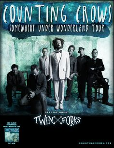 Nashville melodic folk group Twin Forks will make an anticipated return to Canada with Counting Crows this spring, supporting the band on their 'Somewhere Under Wonderland' tour. Much Music, Kinds Of Music, Cynthia Woods Mitchell Pavilion, Dashboard Confessional, Counting Crows, Barcelona, Wolverhampton, Juni, Grateful Dead