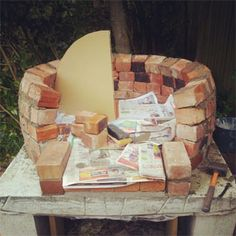 making a woodfired pizza oven in your garden
