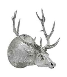 A WILLIAM IV SILVER STAG STIRRUP-CUP  MARK OF PAUL STORR, LONDON, 1834  Realistically cast as a stag's head, engraved with an inscription, marked on side  5¾ in. (14.6 cm.) long  20 oz. (622. gr.)  The inscription reads 'H.R.H. Prince George of Cambridge to Charles Davis 1835'